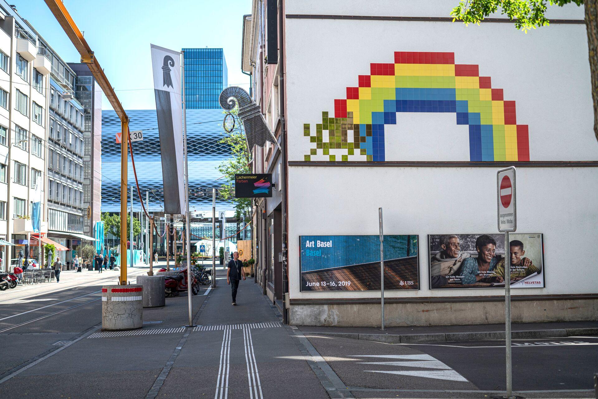 Plus de 20Space Invaders signés de la star de l'art urbain, Invader, sont répartis sur toute la ville.