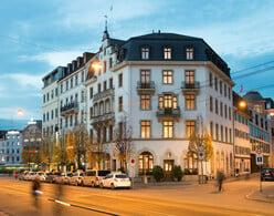 Aussenansicht des GAIA Hotels Basel.