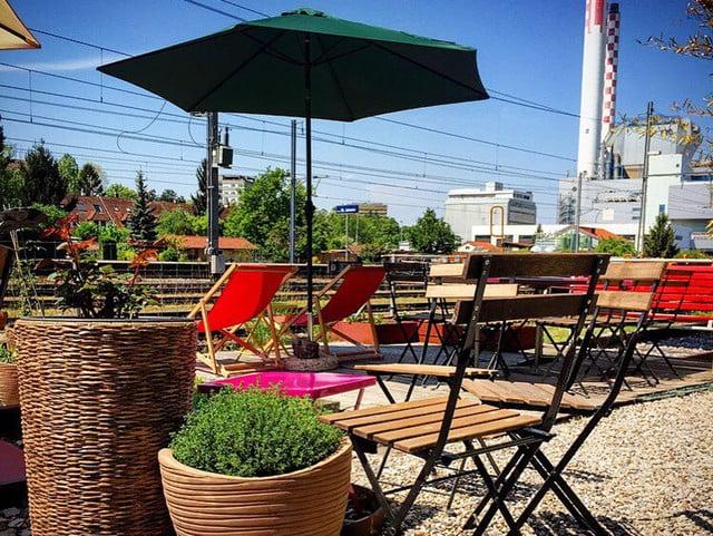 Das Restaurant Il Giardino Urbano Basel.