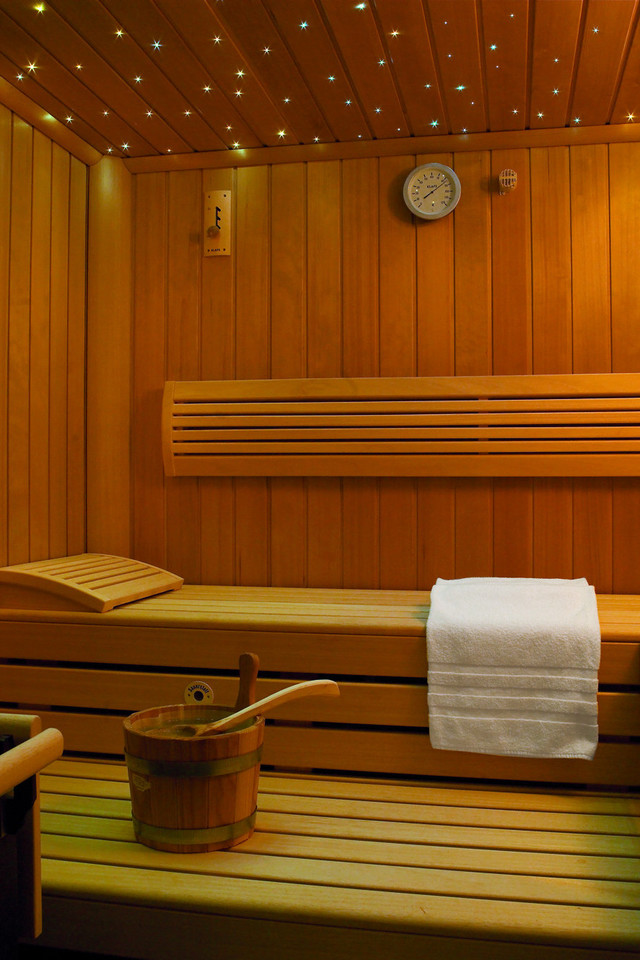 Die private Sauna in der Suite Les Trois Rois im Grand Hotel Les Trois Rois Basel.