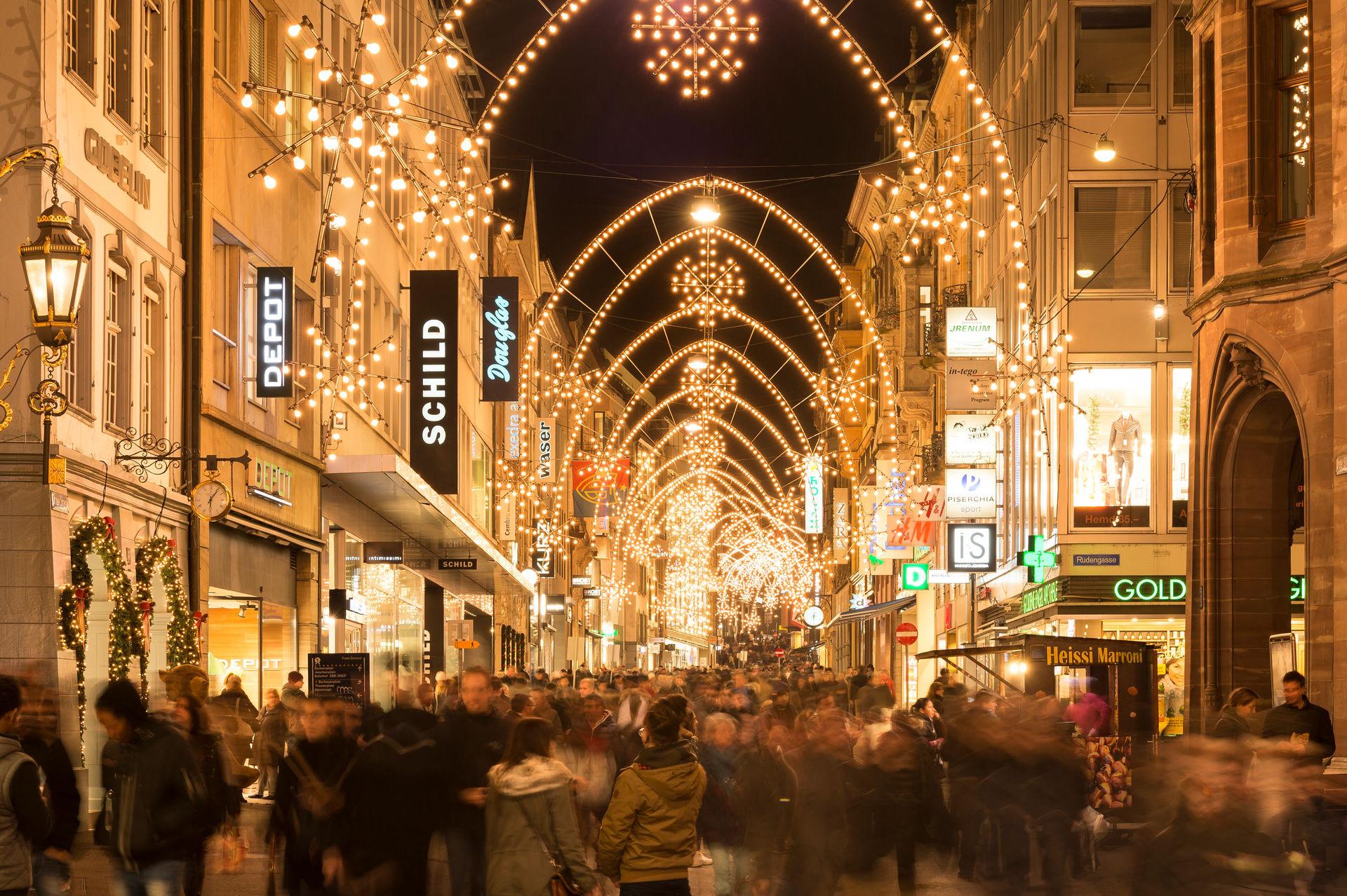 Basler Weihnacht Freie Strasse Basel