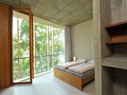 Ein Zimmer in der Jugendherberge Basel.
