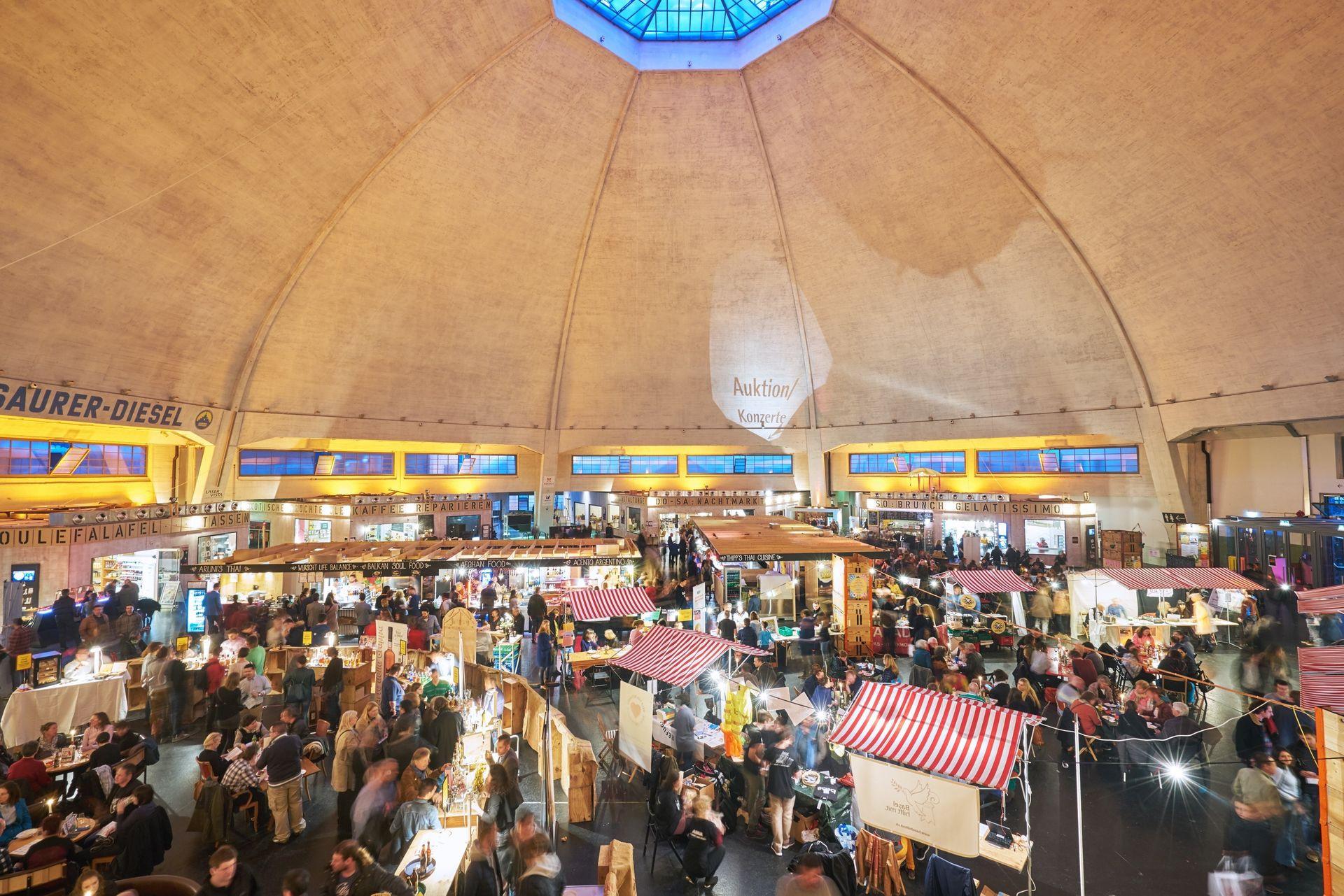 Nachtflohmarkt Markthalle Basel
