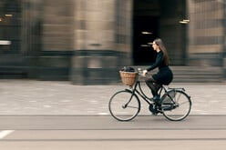 Durch Basel auf dem Fahrrad.