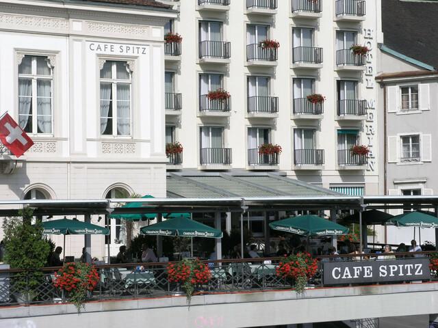 Das Fischrestaurant «Café Spitz» im Hotel Merian ist weit über die Stadtgrenzen hinaus bekannt für seine exzellente Fischküche.