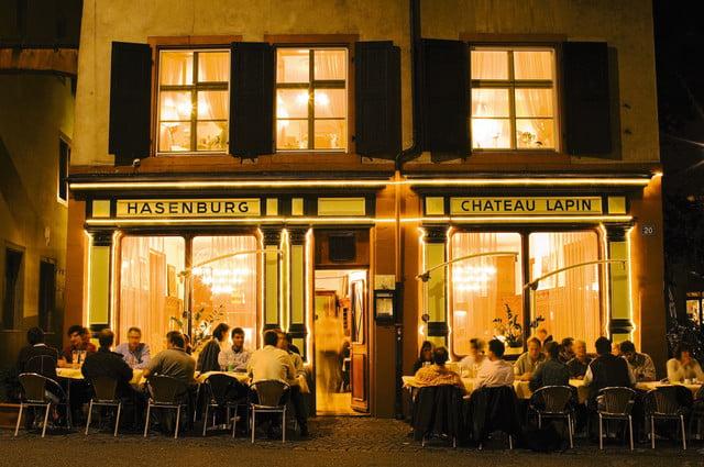 Das Restaurant Hasenburg am Andreasplatz.