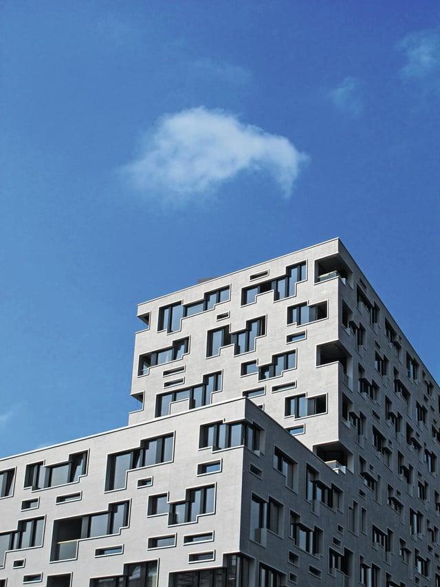 Das Gebäudeensemble Südpark im Gundeldinger Quartier, designed von Herzog & de Meuron.